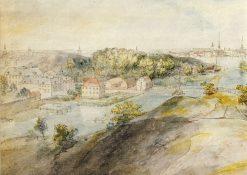 Langholmen med Langholmens spinnhus | Elias Martin | Oil Painting
