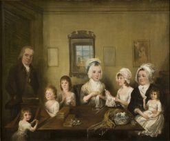 Portrait of the Family Latrobe of Fulneck | Elias Martin | Oil Painting