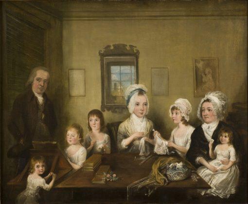 Portrait of the Family Latrobe of Fulneck   Elias Martin   Oil Painting