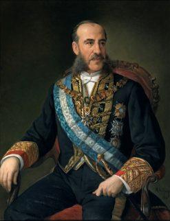 Minister Carlos Marfori   Manuel Ojeda y Siles   Oil Painting