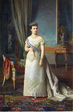 María de las Mercedes de Orleans   Manuel Ojeda y Siles   Oil Painting