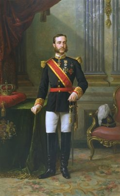 Portrait of King Alfonso XII | Manuel Ojeda y Siles | Oil Painting