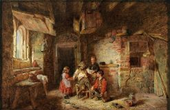 Scene in the Barn | Alfred Provis | Oil Painting