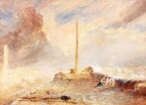 Sunderland Piers in a Storm | Thomas Miles Richardson