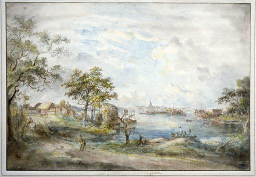 View towards Stockholm from Ryssviken | Elias Martin | Oil Painting