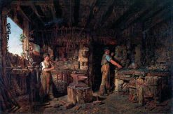 The Blacksmiths Forge | Alfred Provis | Oil Painting