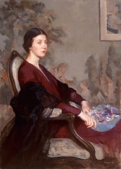 Portrait of Mrs.Jonathan Sawyer | Edmund Tarbell | Oil Painting