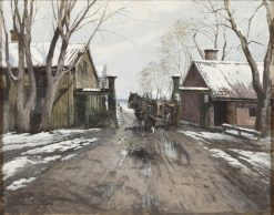At the City Toll Gate | Victor Forssell | Oil Painting