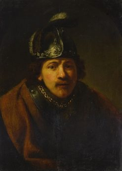 Portrait of a Man in Helmet | Govaert Flinck | Oil Painting