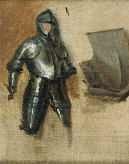 Study of a 16th Century Armor   Richard Parkes Bonington   Oil Painting