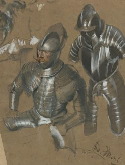 Study of a Knight and Suit of Armor | Adolph von Menzel | Oil Painting