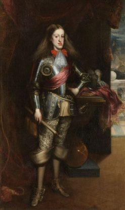 King Charles II in Armor | Juan Carreño de Miranda | Oil Painting