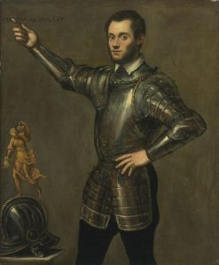 Portrait of a Nobleman in Armor | Tintoretto | Oil Painting