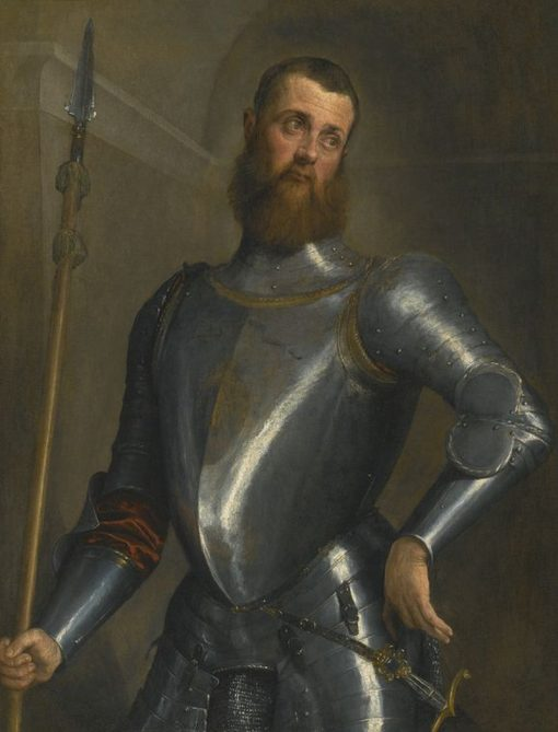 Portrait of a Gentleman in Full Armor | Jacopo Bassano | Oil Painting