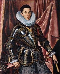 Portrait of Prince Philip Emmanuel of Savoy   Juan Pantoja de la Cruz   Oil Painting
