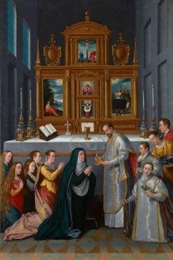 The Communion of the Virgin   Juan Pantoja de la Cruz   Oil Painting