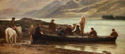 Letters and News at the Loch Side | Henry Tanworth Wells | Oil Painting
