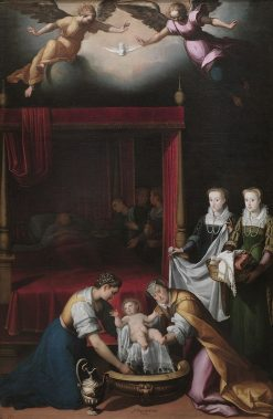 The Nativity of the Virgin | Juan Pantoja de la Cruz | Oil Painting