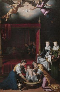 The Nativity of the Virgin   Juan Pantoja de la Cruz   Oil Painting