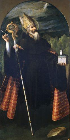 St. Augustin | Juan Pantoja de la Cruz | Oil Painting