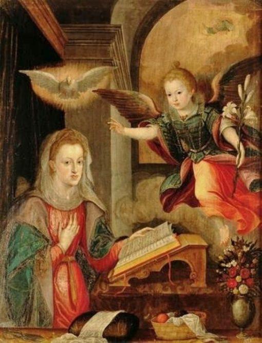The Virgin Annunciate | Juan Pantoja de la Cruz | Oil Painting