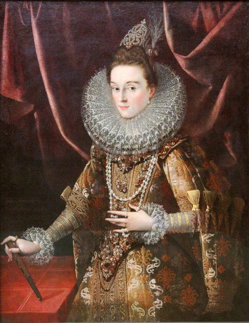 Infanta Isabella Clara Eugenia of Spain | Juan Pantoja de la Cruz | Oil Painting