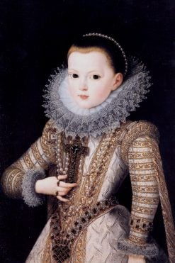 Portrait of Anne of Austria as a child | Juan Pantoja de la Cruz | Oil Painting