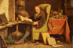 A Scientist Reading In His Laboratory | Charles Meer Webb | Oil Painting