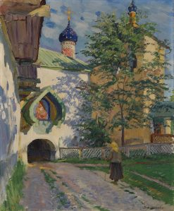 Church of St Nicholas. Inner Entrance to the Monastery | Sergei Arsenevich Vinogradov | Oil Painting