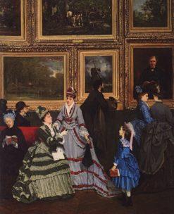 Le Salon de 1874 | Camille-Leopold Cabaillot Lassalle | Oil Painting