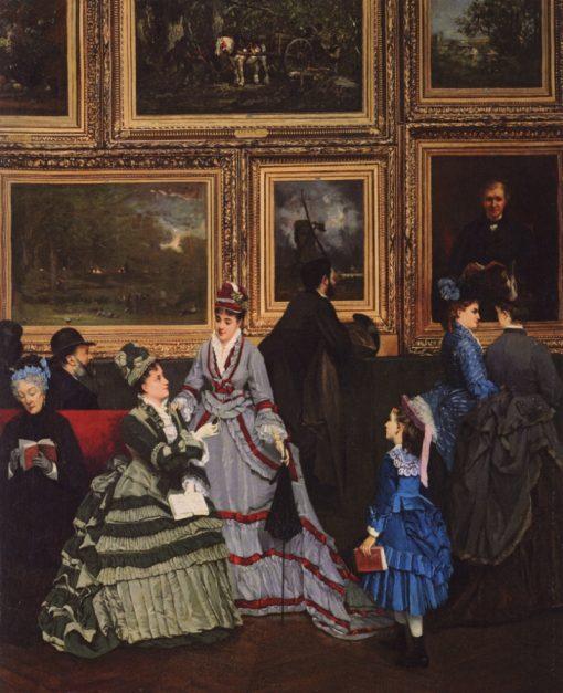 Le Salon de 1874   Camille-Leopold Cabaillot Lassalle   Oil Painting