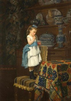 A Little Taste | Camille-Leopold Cabaillot Lassalle | Oil Painting