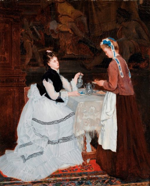 Tea Time | Camille-Leopold Cabaillot Lassalle | Oil Painting