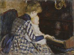 At the Piano | Mina Carlson-Bredberg | Oil Painting