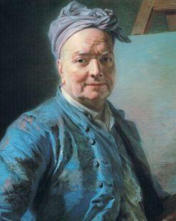 Portrait of Louis de Silvestre | Maurice Quentin de La Tour | Oil Painting