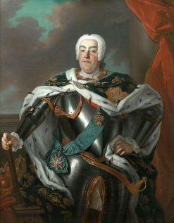 Portrait of Augustus III of Poland | Louis de Silvestre | Oil Painting