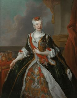 Portrait of Maria Josepha of Austria | Louis de Silvestre | Oil Painting