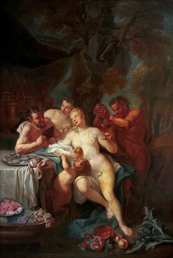 Feast of nymphs and satyrs | Louis de Silvestre | Oil Painting