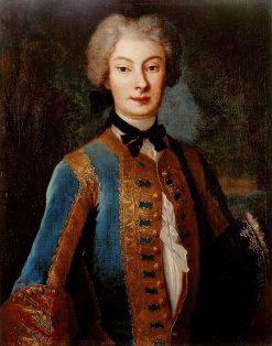 Portrait of Anna Orzelska in riding habit | Louis de Silvestre | Oil Painting