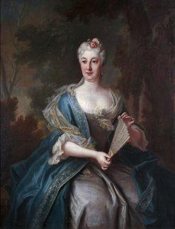 Portrait of Katarzyna Barbara Radziwill | Louis de Silvestre | Oil Painting
