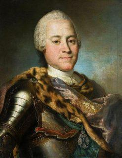 Portrait of Heinrich von Bruhl in armor | Louis de Silvestre | Oil Painting