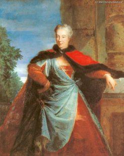 Portrait of El?bieta Helena Sieniawska | Louis de Silvestre | Oil Painting