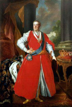 Portrait of King Augustus III in Polish Costume | Louis de Silvestre | Oil Painting