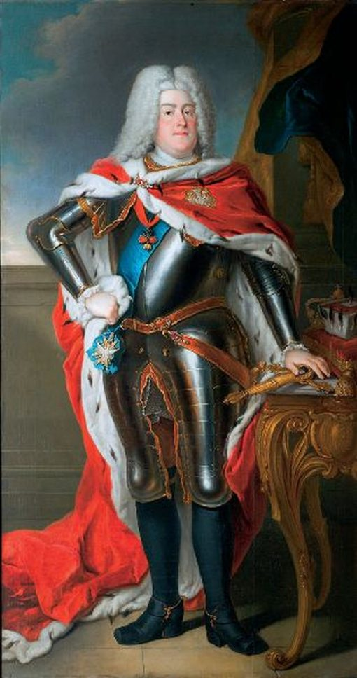 Portrait of August III of Saxony | Louis de Silvestre | Oil Painting