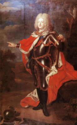 Portrait of August III of Saxony | Louis de Silvestre | Oil Painting