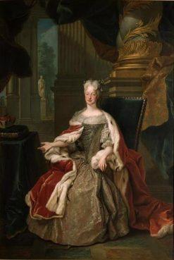 Portrait of Maria Josepha of Austria | Louis de Silvestre | Oil Painting
