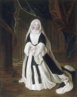 Portrait of Marie Louise Elisabeth dOrleans as a Widow | Louis de Silvestre | Oil Painting