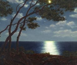 Moonlight on the water | Ivan Fedorovich Choultse | Oil Painting