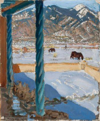Taos Home in Sunlight | Akseli Gallen-Kallela | Oil Painting