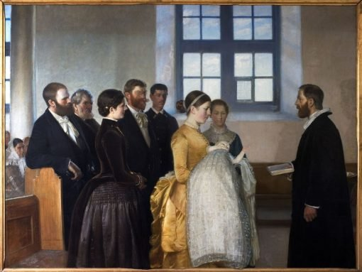 A Baptism | Michael Peter Ancher | Oil Painting